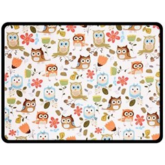 Cute Owl Double Sided Fleece Blanket (large)