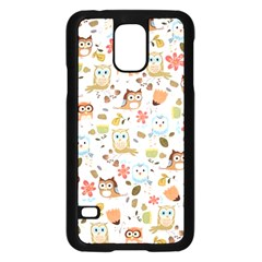 Cute Owl Samsung Galaxy S5 Case (black) by Nexatart