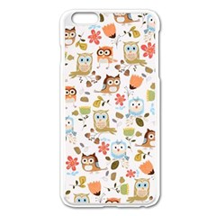 Cute Owl Apple Iphone 6 Plus/6s Plus Enamel White Case by Nexatart