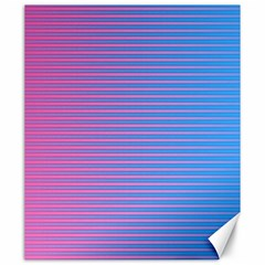 Turquoise Pink Stripe Light Blue Canvas 20  X 24   by Mariart