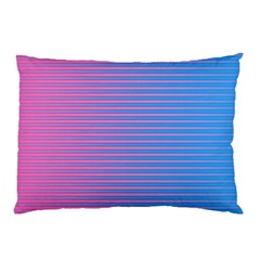 Turquoise Pink Stripe Light Blue Pillow Case by Mariart