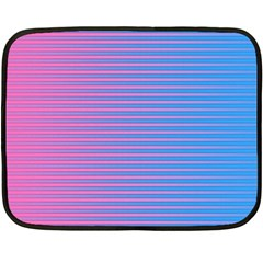 Turquoise Pink Stripe Light Blue Fleece Blanket (mini) by Mariart