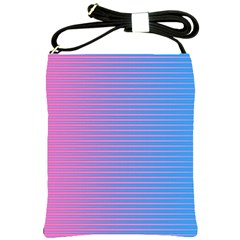 Turquoise Pink Stripe Light Blue Shoulder Sling Bags by Mariart