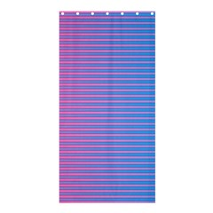Turquoise Pink Stripe Light Blue Shower Curtain 36  X 72  (stall)  by Mariart