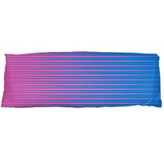 Turquoise Pink Stripe Light Blue Body Pillow Case (dakimakura) by Mariart