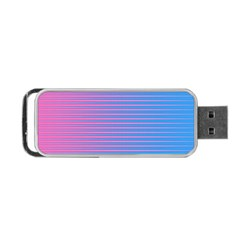 Turquoise Pink Stripe Light Blue Portable Usb Flash (one Side) by Mariart