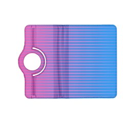 Turquoise Pink Stripe Light Blue Kindle Fire Hd (2013) Flip 360 Case by Mariart