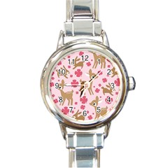 Preety Deer Cute Round Italian Charm Watch