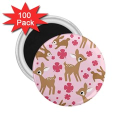 Preety Deer Cute 2 25  Magnets (100 Pack)  by Nexatart