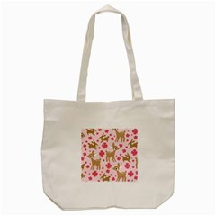 Preety Deer Cute Tote Bag (cream) by Nexatart