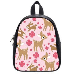 Preety Deer Cute School Bags (small)  by Nexatart
