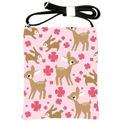 Preety Deer Cute Shoulder Sling Bags by Nexatart