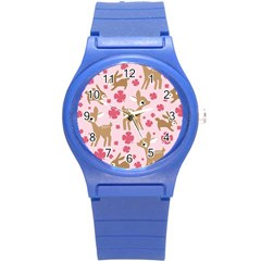 Preety Deer Cute Round Plastic Sport Watch (s) by Nexatart
