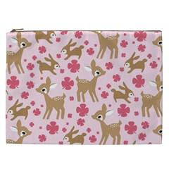 Preety Deer Cute Cosmetic Bag (xxl)  by Nexatart