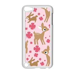 Preety Deer Cute Apple Ipod Touch 5 Case (white) by Nexatart