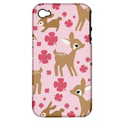 Preety Deer Cute Apple Iphone 4/4s Hardshell Case (pc+silicone) by Nexatart