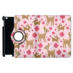 Preety Deer Cute Apple Ipad 3/4 Flip 360 Case by Nexatart