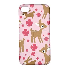 Preety Deer Cute Apple Iphone 4/4s Hardshell Case With Stand