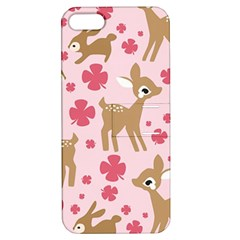 Preety Deer Cute Apple Iphone 5 Hardshell Case With Stand