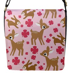 Preety Deer Cute Flap Messenger Bag (s) by Nexatart