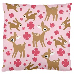 Preety Deer Cute Standard Flano Cushion Case (one Side) by Nexatart