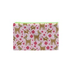 Preety Deer Cute Cosmetic Bag (xs) by Nexatart