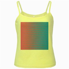 Turquoise Pink Stripe Light Blue Yellow Spaghetti Tank by Mariart