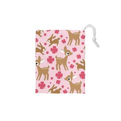 Preety Deer Cute Drawstring Pouches (xs)