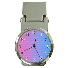 Turquoise Pink Stripe Light Blue Money Clip Watches by Mariart