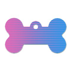 Turquoise Pink Stripe Light Blue Dog Tag Bone (two Sides) by Mariart