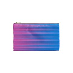 Turquoise Pink Stripe Light Blue Cosmetic Bag (small)  by Mariart
