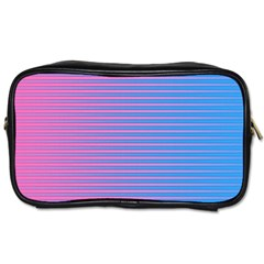 Turquoise Pink Stripe Light Blue Toiletries Bags by Mariart