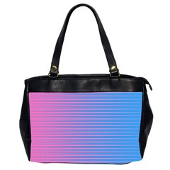 Turquoise Pink Stripe Light Blue Office Handbags (2 Sides)  by Mariart