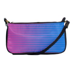 Turquoise Pink Stripe Light Blue Shoulder Clutch Bags by Mariart