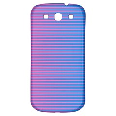 Turquoise Pink Stripe Light Blue Samsung Galaxy S3 S Iii Classic Hardshell Back Case by Mariart