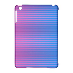 Turquoise Pink Stripe Light Blue Apple iPad Mini Hardshell Case (Compatible with Smart Cover) by Mariart