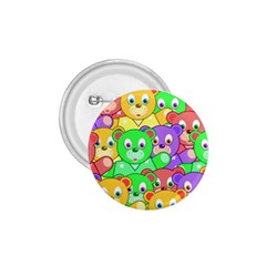 Cute Cartoon Crowd Of Colourful Kids Bears 1 75  Buttons by Nexatart