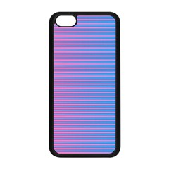 Turquoise Pink Stripe Light Blue Apple Iphone 5c Seamless Case (black) by Mariart