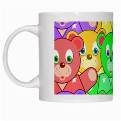 Cute Cartoon Crowd Of Colourful Kids Bears White Mugs by Nexatart