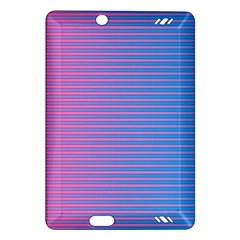 Turquoise Pink Stripe Light Blue Amazon Kindle Fire Hd (2013) Hardshell Case by Mariart