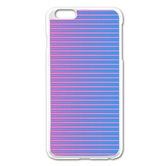 Turquoise Pink Stripe Light Blue Apple Iphone 6 Plus/6s Plus Enamel White Case by Mariart