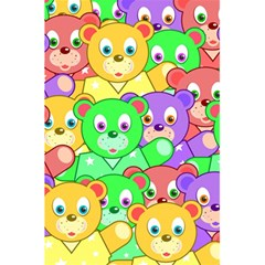 Cute Cartoon Crowd Of Colourful Kids Bears 5 5  X 8 5  Notebooks by Nexatart