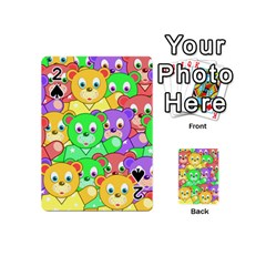 Cute Cartoon Crowd Of Colourful Kids Bears Playing Cards 54 (mini)  by Nexatart