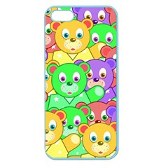 Cute Cartoon Crowd Of Colourful Kids Bears Apple Seamless Iphone 5 Case (color) by Nexatart