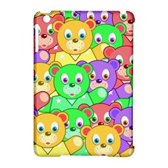 Cute Cartoon Crowd Of Colourful Kids Bears Apple Ipad Mini Hardshell Case (compatible With Smart Cover) by Nexatart