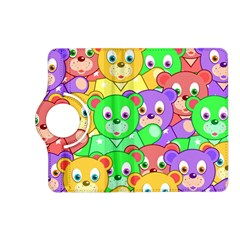 Cute Cartoon Crowd Of Colourful Kids Bears Kindle Fire Hd (2013) Flip 360 Case by Nexatart