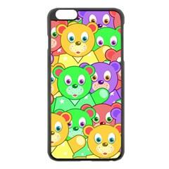 Cute Cartoon Crowd Of Colourful Kids Bears Apple Iphone 6 Plus/6s Plus Black Enamel Case by Nexatart