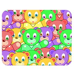 Cute Cartoon Crowd Of Colourful Kids Bears Double Sided Flano Blanket (medium)  by Nexatart