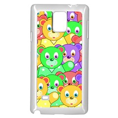 Cute Cartoon Crowd Of Colourful Kids Bears Samsung Galaxy Note 4 Case (white) by Nexatart