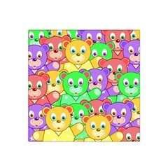 Cute Cartoon Crowd Of Colourful Kids Bears Satin Bandana Scarf